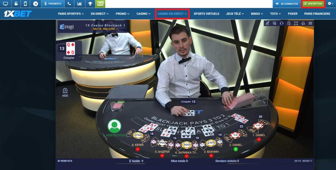 L'univers du 1xBet Benin casino